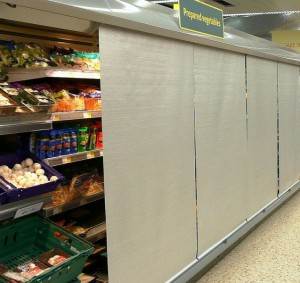 Refrigerated Blinds for supermarkets