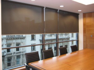 office and large roller blinds