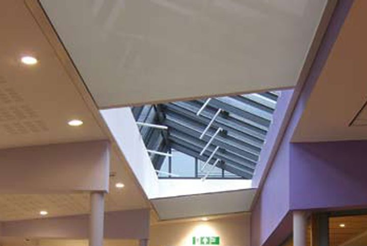 Commercial Roof Blinds Fitted Ceiling Blinds